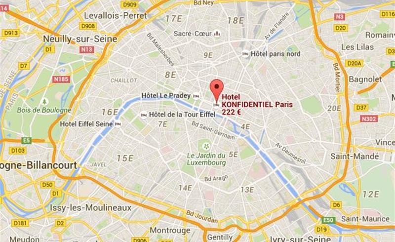 Access h tel konfidentiel paris - Station metro jardin du luxembourg ...